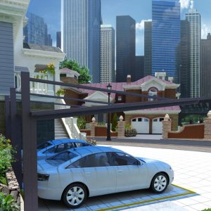 Back-Pull Cantilever Double Carport | Living Space
