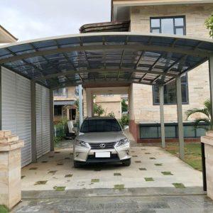 M Shape Double Carport | Living Space
