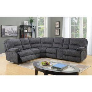 Alliston Fabric Corner Recliner Lounge Suite | Living Space