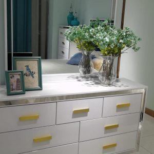 Aqua Dresser With Mirror   Living Space