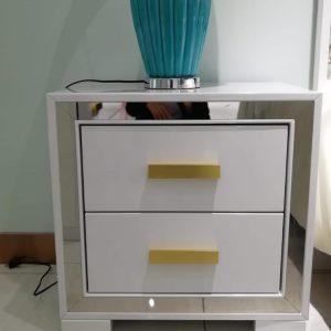 Aqua Bedside Table   Living Space