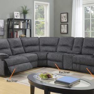 Alliston Fabric Sectional Recliner Lounge Suite | Living Space