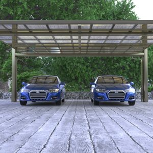 Side-Pull Cantilever Double Carport | Living Space