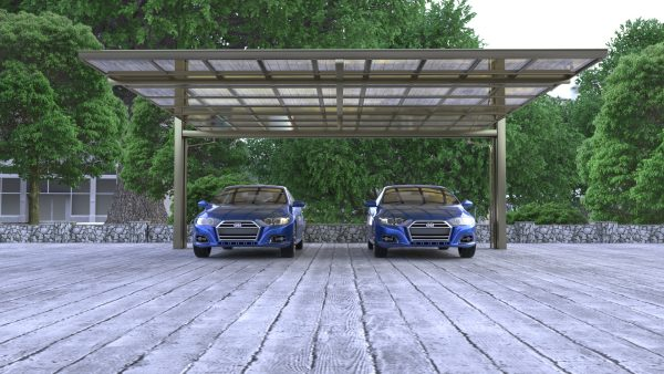 Side-Pull Cantilever Double Carport   Living Space