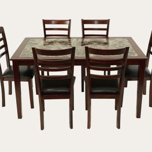 Winsted Dining Suite (Marble Pattern) | Living Space