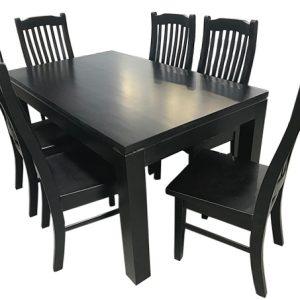 Lynn Dining Suite Black | Living Space
