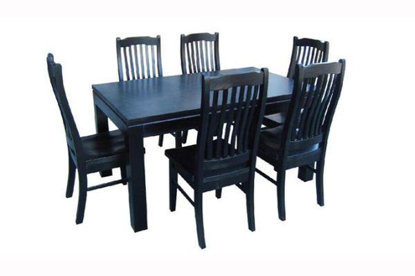 Lynn Dining Suite Black   Living Space