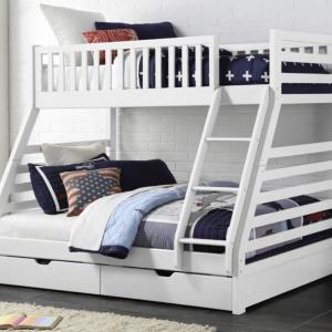 Jordan Bunk Bed - White | Living Space