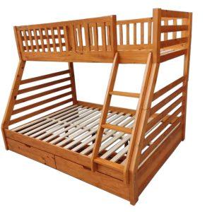 Jordan Bunk Bed - Wood | Living Space